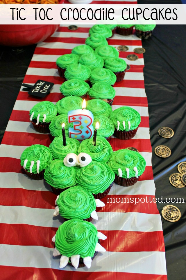 Tic Toc Croc Pirate Crocodile Cupcakes