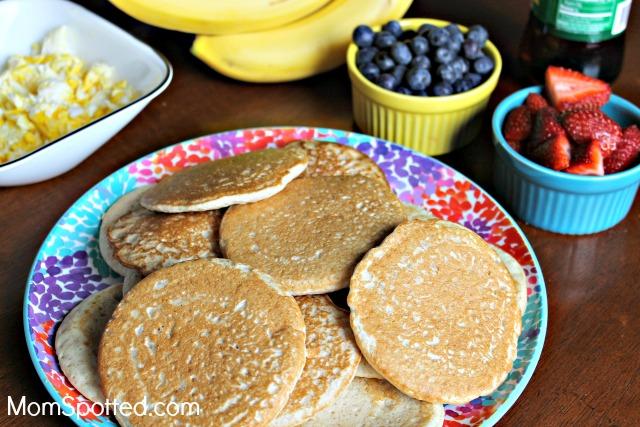 Breakfast Night With Krusteaz & Honey Wheat Applesauce Pancakes