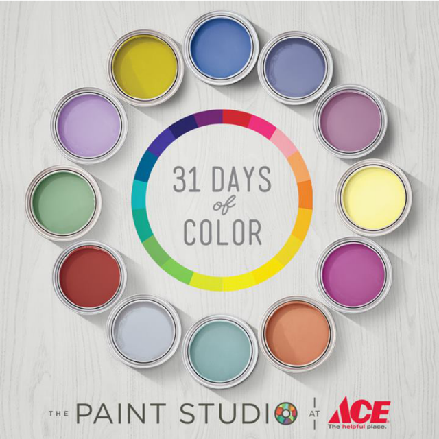 Ace Hardware's #31daysofcolor contest at the Paint Studio