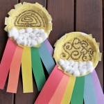 Rainbow Sun Clouds Paper Plate Craft - Fun Crafts with Mom
