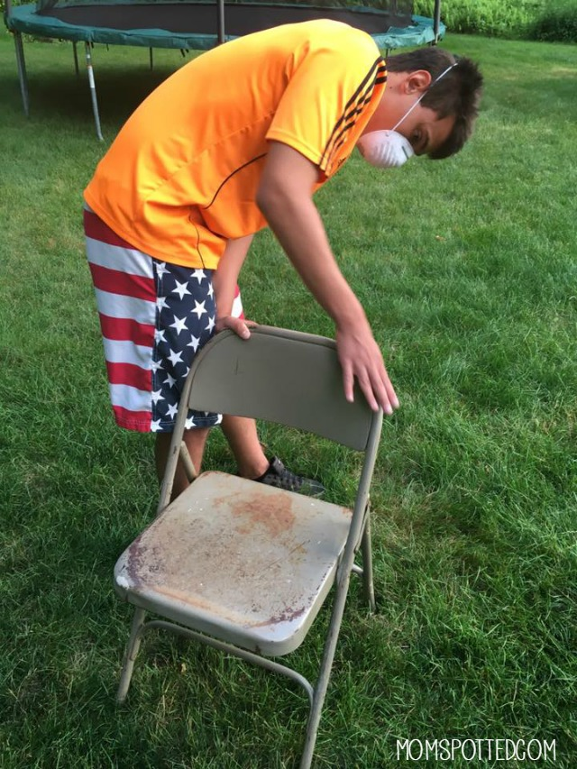 Sand metal chairs first