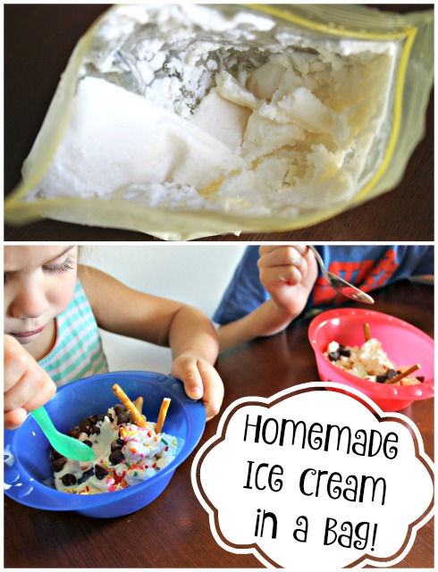 Homemade Vanilla Ice Cream In A Bag Recipe