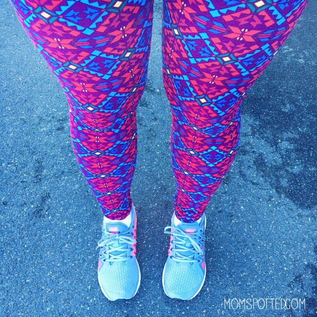 Keeping A Fit Mind With Nature Made At Walmart - Mom Spotted LuLaRoe leggings running fitness