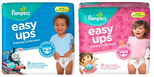 New Training Underwear from Pampers Easy Ups