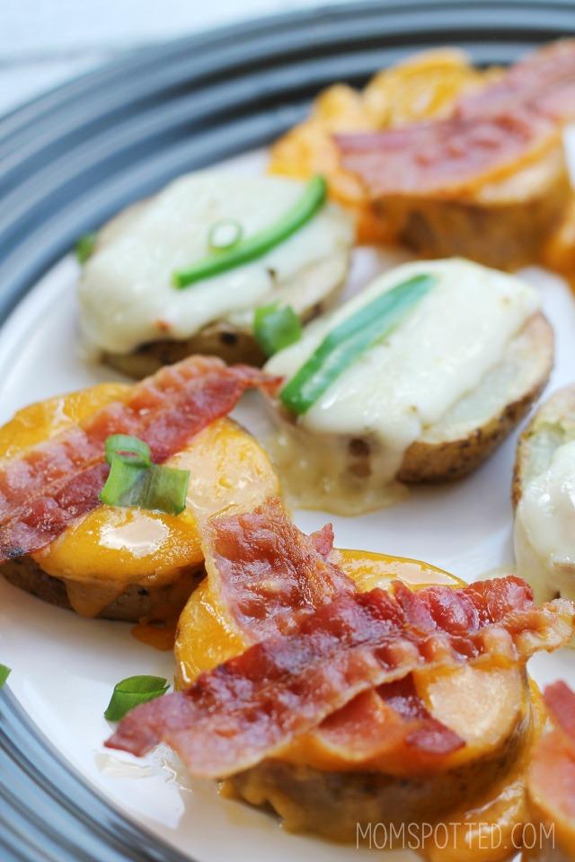 Quick and Easy Cheesy Potato Skin Bites