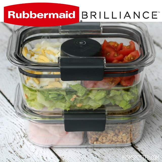 Rubbermaid BRILLIANCE Snack & Salad Set packed lunch