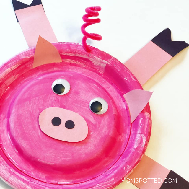 Celebrate The Chinese New Year with This Fun Pig Paper Plate Craft & Ling Ling