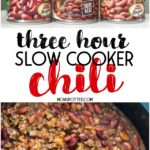 Three-Hour Slow Cooker Chili Recipe
