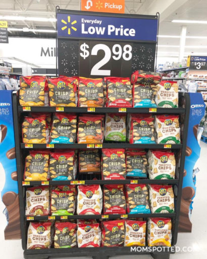RITZ Crisp & Thins Walmart Display